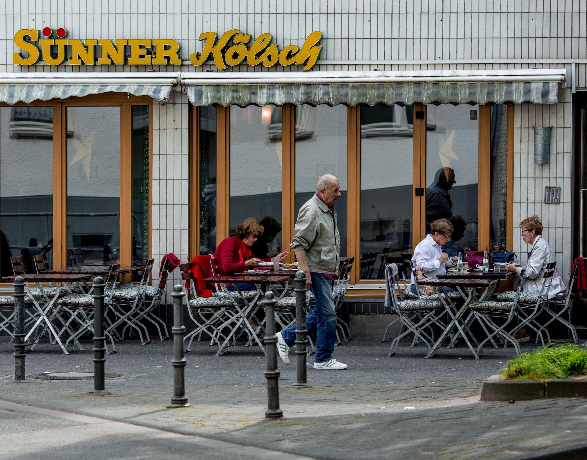 Das Kneipenrestaurant Blauer König in Kalk