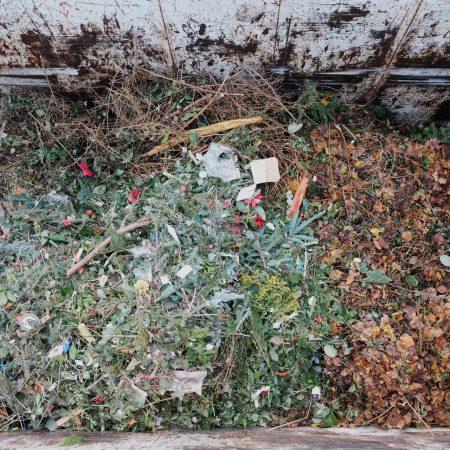 Grünschnitt im Wertstoff-Center der AWB in Köln-Ossendorf