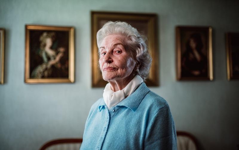 Margareta Müller Wolf in ihrer Wohnung in der Rosenhofsiedlung.