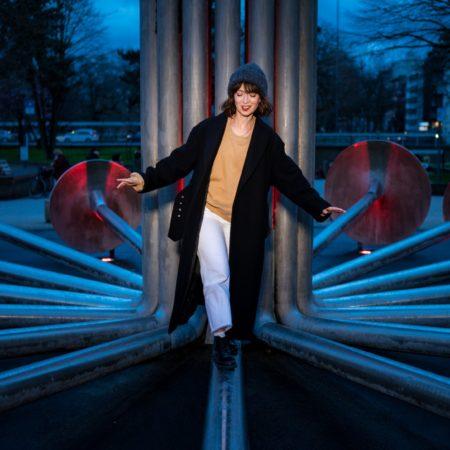 Bianca Hauda für KÖLN.BESTE! auf dem Ebertplatz fotografiert von Costa Belibasakis