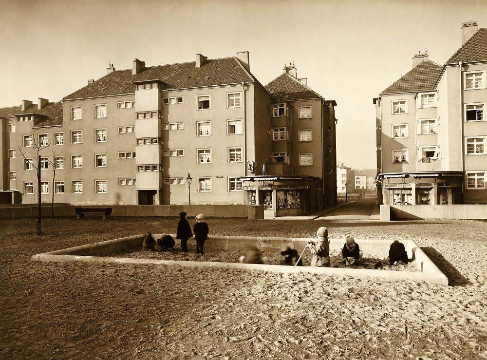 Historisches Bild der Rosenhofsiedlung in Köln-Bickendorf